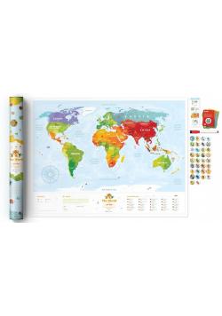 Mapa zdrapka - Travel Map Kids Animals