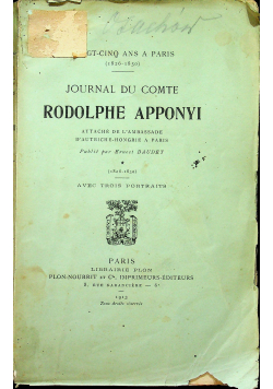Rodolphe Apponyi 1913 r