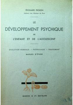 Le Developpement Psychique de Lenfant et de Ladolescent