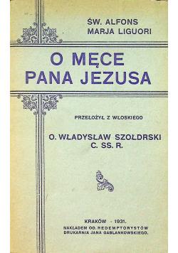 O męce Pana Jezusa 1931 r