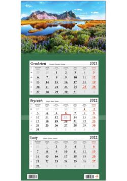 Kalendarz ścienny 2022 trójdzielny Góry
