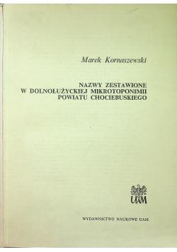 Nazwy zestawione w dolnołużyckiej mikrotoponimii powiatu Chociebuskiego