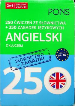250 ćwiczeń 250 zagadek słownictwo Angielski 2w1