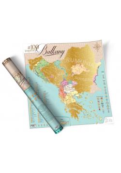 Mapa zdrapka - #100 Inspiracji Bałkany