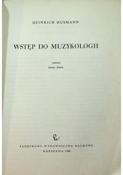 Wstęp do muzykologii
