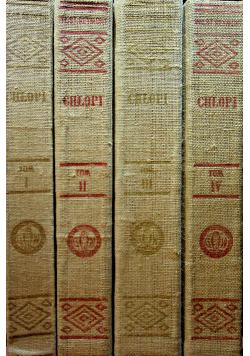 Chłopi 4 tomy 1950 r.