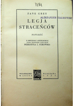 Legja Straceńców 1935 r