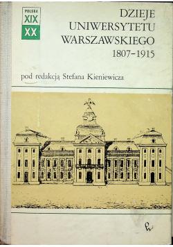 Dzieje Uniwersytetu Warszawskiego 1807 1915