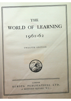 The world of learning 1961 62