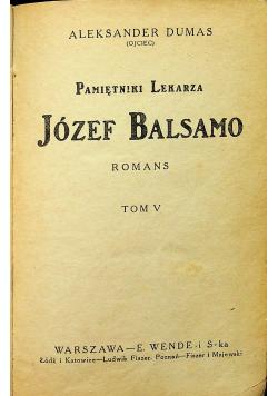 Pamiętniki lekarza Józef Balsamo romans tom V