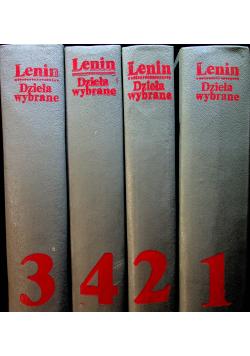 Lenin Dzieła wybrane tomy od 1 do 4