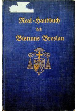 Real Handbuch des Bistums Breslau Tom 1 1929 r