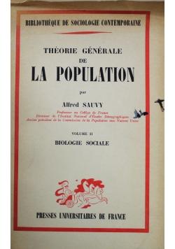 Theorie generale de la population
