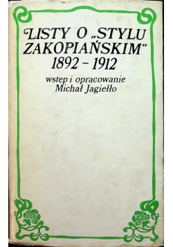 Listy o stylu zakopiańskim