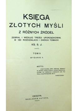 Księga złotych myśli Tom II ok 1931r